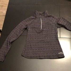 Woman's Eddie Bauer Long Sleeve Black/Gray Shirt